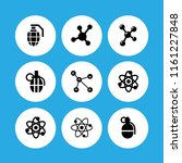 atomic icon. 9 atomic set with... | Shutterstock .eps vector #1161227848