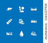 9 damage icons in vector set.... | Shutterstock .eps vector #1161227935