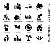 set of 16 icons such as plant a ...