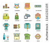 set of 16 icons such as bonus ...