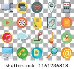 set of 20 transparent icons...   Shutterstock .eps vector #1161236818