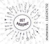 hand drawn arrows  vector set | Shutterstock .eps vector #1161241732