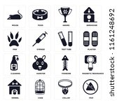 set of 16 icons such as poo ...