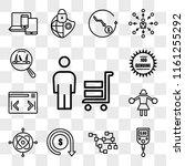 set of 13 transparent icons... | Shutterstock .eps vector #1161255292