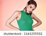 portrait of beautiful sexy... | Shutterstock . vector #1161255532
