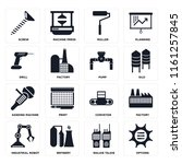 set of 16 icons such as options ...