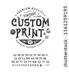 font custom print.  hand... | Shutterstock .eps vector #1161259195