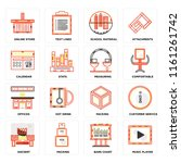 set of 16 icons such as music...