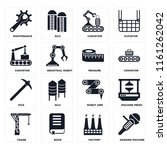 set of 16 icons such as sanding ...
