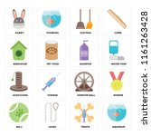 set of 16 icons such as... | Shutterstock .eps vector #1161263428