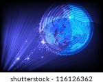 abstract planet background. | Shutterstock . vector #116126362