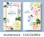 vector vintage floral banners... | Shutterstock .eps vector #1161263842