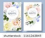 vector vintage floral banners... | Shutterstock .eps vector #1161263845