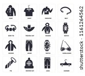 set of 16 icons such as hanger  ...