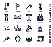set of 16 icons such as sewing...