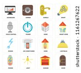 set of 16 icons such as door ...