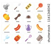 set of 16 icons such as mug ... | Shutterstock .eps vector #1161268342