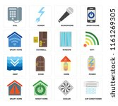 set of 16 icons such as air...