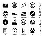 set of 16 icons such as pet ...