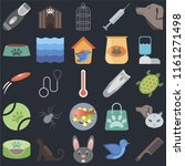 set of 25 icons such as comb ... | Shutterstock .eps vector #1161271498