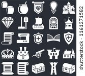 set of 25 icons such as chest ...