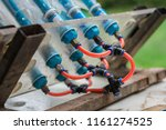 water bottle rocket for used to ... | Shutterstock . vector #1161274525