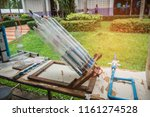 water bottle rocket for used to ... | Shutterstock . vector #1161274528