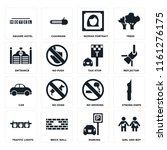 set of 16 icons such as girl...