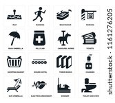 set of 16 icons such as toilet...