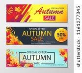 autumn sales banners. | Shutterstock .eps vector #1161277345