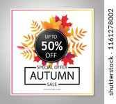 autumn sale layout  poster ... | Shutterstock .eps vector #1161278002