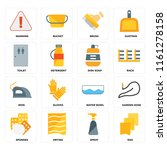 set of 16 icons such as rag ... | Shutterstock .eps vector #1161278158