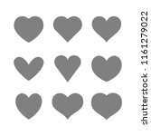 heart icon collection  love...   Shutterstock .eps vector #1161279022