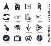 set of 16 icons such as dice ...