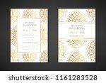 wedding invitation templates.... | Shutterstock .eps vector #1161283528