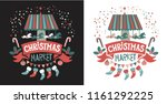 christmas market emblem on the... | Shutterstock .eps vector #1161292225