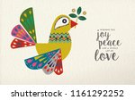 merry christmas and happy new... | Shutterstock .eps vector #1161292252