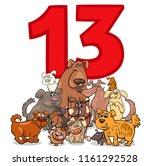 cartoon illustration of number... | Shutterstock .eps vector #1161292528