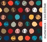 seamless polka dot pattern. dry ... | Shutterstock .eps vector #1161303568