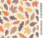 Lovely Autumn Leafs Pattern In...