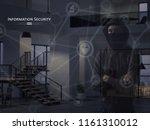 information security concept.... | Shutterstock . vector #1161310012