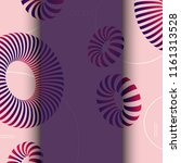 3d abstract colorful shape....   Shutterstock . vector #1161313528