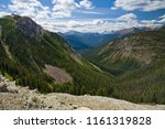 View In To A Mountain Valley In ...