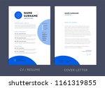 professional cv resume template ... | Shutterstock .eps vector #1161319855