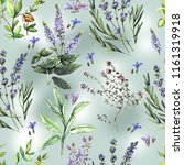 watercolor pattern with... | Shutterstock . vector #1161319918