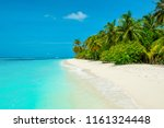 beautiful sandy beach with... | Shutterstock . vector #1161324448