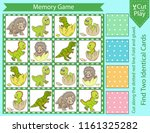 memory game with cute set... | Shutterstock .eps vector #1161325282