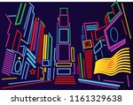 times square at night | Shutterstock .eps vector #1161329638