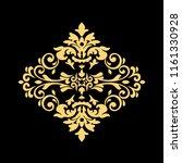 golden vintage baroque frame...   Shutterstock .eps vector #1161330928