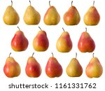 isolated image of ripe pears...   Shutterstock . vector #1161331762